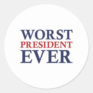 Schlechtester Präsident Ever Runder Aufkleber