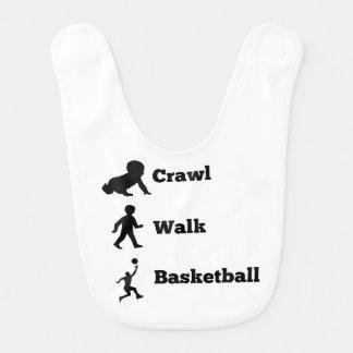 Schleichen-Weg-Basketball Lätzchen