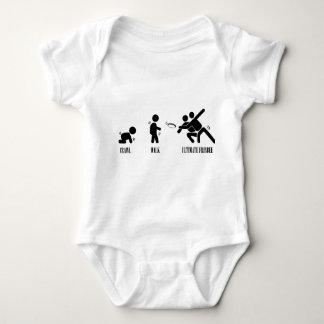 Schleichen. Weg. Entscheidender Frisbee Baby Strampler