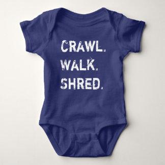 Schleichen, Weg, Fetzen-Baby Baby Strampler