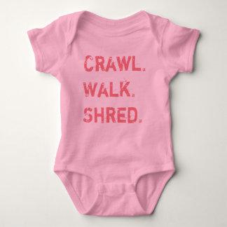 Schleichen, Weg, Fetzen für Baby Baby Strampler