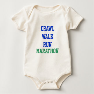 Schleichen, Weg, Lauf, MARATHON Baby Strampler
