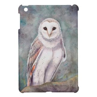 Schleiereule-Aquarell-Tier-Kunst iPad Mini Hülle