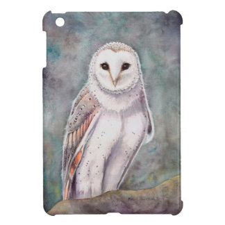 Schleiereule-Aquarell-Tier-Kunst iPad Mini Hüllen
