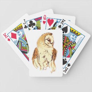 Schleiereule-Skizze Bicycle Spielkarten