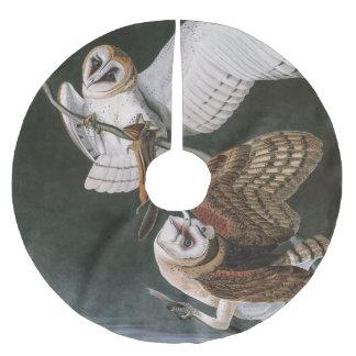 Schleiereulen, die Vögel von Amerika John James Polyester Weihnachtsbaumdecke