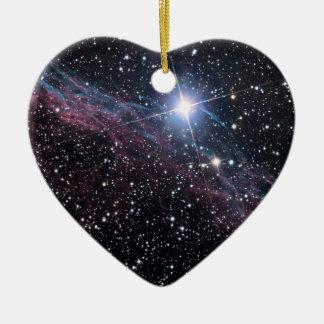 Schleiernebelfleck der NASAs ESA Keramik Herz-Ornament