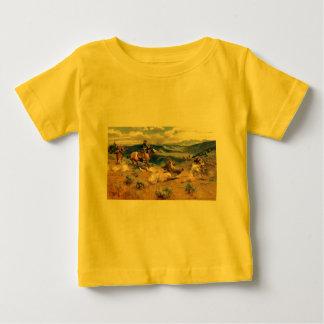 Schleifen Charless M. Russell und schnelles Horses Baby T-shirt