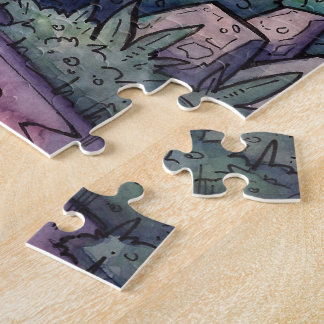 Schleppangel-Brücken-Puzzle vom unwirklichen Puzzle