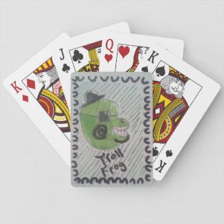Schleppangel-Frosch Spielkarten