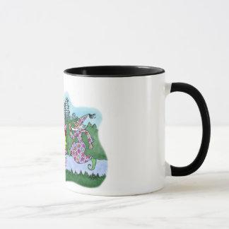 Schleppangel-Rennen Tasse