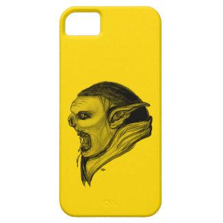 Schleppangel-schwarzer und gelber Entwurf Barely There iPhone 5 Hülle
