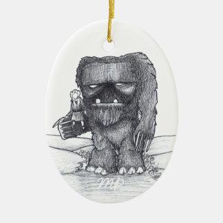 Schleppangel- und Begleiterzeichnen Keramik Ornament