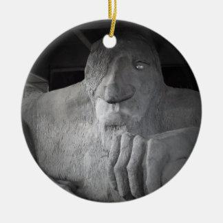 Schleppangel-Verzierung Seattles Fremont Rundes Keramik Ornament