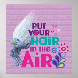 Schleppangeln | setzten Ihr Haar in die Luft 2 ein Poster