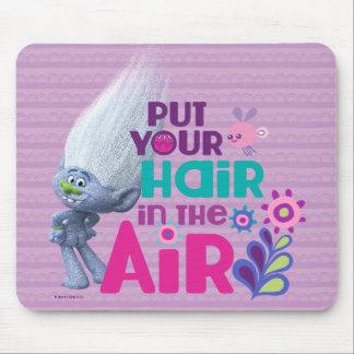 Schleppangeln | setzten Ihr Haar in die Luft ein Mousepad
