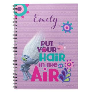 Schleppangeln | setzten Ihr Haar in die Luft ein Spiral Notizblock