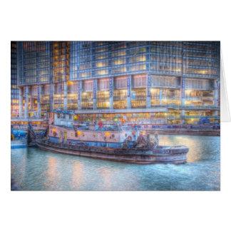 Schlepper auf Chicago River Karte