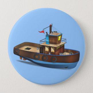 Schlepper-Boot Runder Button 10,2 Cm