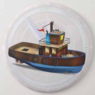 Schlepper-Boot Runder Button 15,3 Cm
