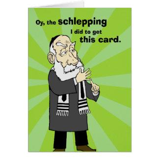 Schlepping Rosh Hashanah Karte