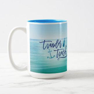 Schleppnetzfischer-Abfall - (dieser könnte Rum Zweifarbige Tasse