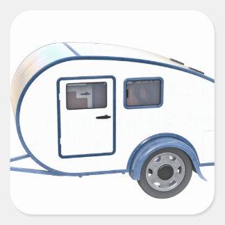 Schleppseil-Camper Quadratischer Aufkleber