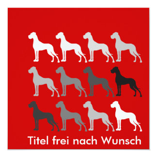 Schlichte Doggen Quadratische 13,3 Cm Einladungskarte