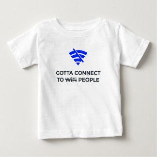 Schließen Sie an Leute nicht Wifi menschliche Baby T-shirt