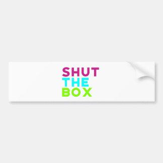 Schließen Sie das Kasten-Logo Autoaufkleber
