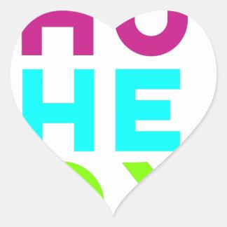 Schließen Sie das Kasten-Logo Herz-Aufkleber