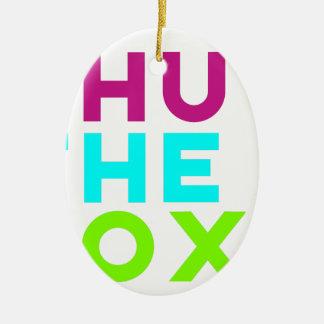 Schließen Sie das Kasten-Logo Keramik Ornament