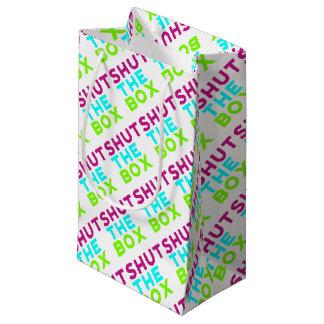 Schließen Sie das Kasten-Logo Kleine Geschenktüte