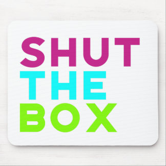 Schließen Sie das Kasten-Logo Mauspads