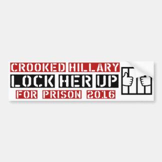 schließen Sie ihren hohen Anti-Hillary Clinton Autoaufkleber