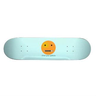 Schließen Sie Ihren Tortenloch Smiley - blauen Individuelle Skatedecks