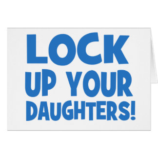 Schließen Sie oben Ihre Töchter zu! Karte