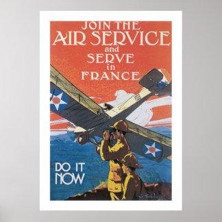 Schließen Sie sich dem Fluglinienverkehr an Poster