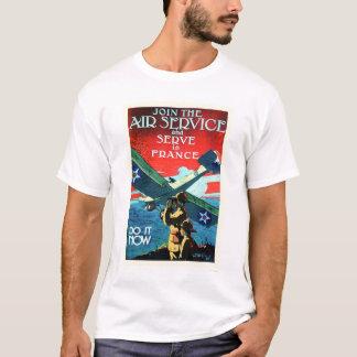 Schließen Sie sich dem Fluglinienverkehr an und T-Shirt