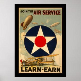 """Schließen Sie sich dem Fluglinienverkehr """"Lernen-E Poster"""