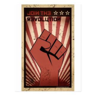 Schließen Sie sich der Revolution an Postkarte