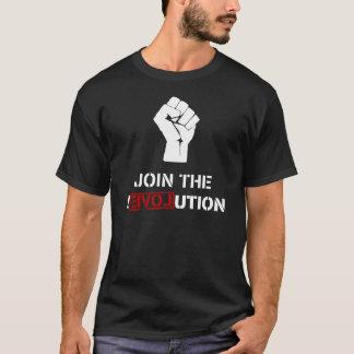 Schließen Sie sich der Revolution - schwarzen T-Shirt