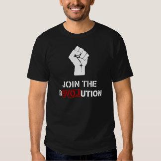 Schließen Sie sich der Revolution - schwarzen T Shirts