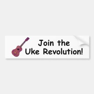 Schließen Sie sich der Uke Revolution an! Autoaufkleber
