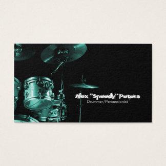 Schlinge und Tom-Türkis-Schlagzeuger-Visitenkarte Visitenkarte