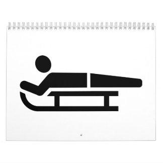 Schlitten luge Logo Kalender