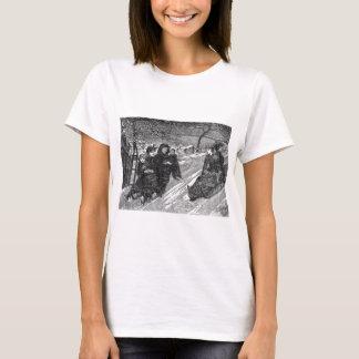 Schlitten-Rennen-viktorianische T-Shirt
