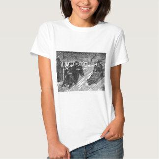 Schlitten-Rennen-viktorianische T-Shirts
