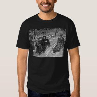 Schlitten-Rennen-viktorianischer Shirts