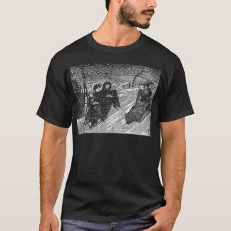 Schlitten-Rennen-viktorianischer T-Shirt